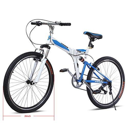 Where Can You buy Gracelove 26inch 7 Speed Mountain Bike with Disc Brakes Full Suspension Mountain Bike Foldable Bicycle