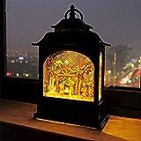 Wondise Christmas Musical Snow Globe Lantern with