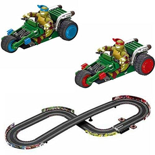 Turbo Booster Ninja Turtle Slot Car Racing Set (F1 Racing Flags)
