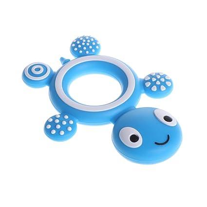 Seguridad Tortuga bebé niños Calidad Alimentaria silicona Chupete Mordedor infantil Enfermedades Chupete Acid Blue