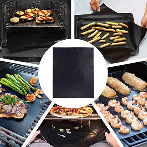 Juman634 Résistance à la Chaleur pour Tapis de Barbecue et Tapis antiadhésif pour Barbecue BBQ Tapis de Cuisson pour Four Micro-Ondes - Environ 12,87 15,60 0,02 Pouce