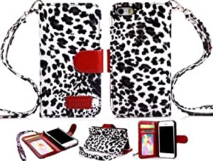 iPhone 4 Wallet Leather case, iPhone 4 Leopard leather case, Leopard case for iPhone 4