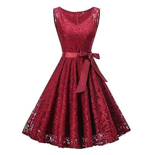 Mode D'honneur Robe Dentelle Womens Bridesmaid Demoiselle Red De Vovotrade Dress Longue Wedding Lace Long Femmes En Sleeveless Ladies Formal IH29WDE