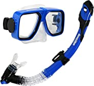 Deep Blue Gear Spirit 2 Ultra Dry Diving Mask and Dry Snorkel Set, Adult