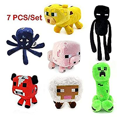 Enderman Creeper Mooshroom Pig Ocelot Sheep Squid Game Overwold Soft Plush Toys Kit Stuffed Aminal Dolls
