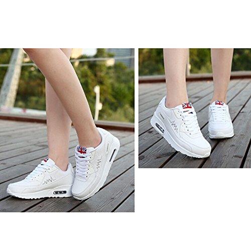 y de Correr para Zapatos Blanco de de para Aire Zapatillas Padgene Amortiguación Deportes Mujer Zapatos Deporte Running Viaje Z6w4WzOpq
