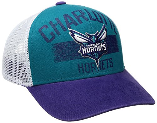 fan products of NBA Charlotte Hornets Men's Downtown Trucker Meshback Hat, Teal, One Size