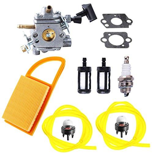 Podoy BR600 Carburetor for Stihl BR550 Parts C1Q-S183 Carb with Air Filter Fuel Filter Spark Plug Primer Bulb BR500 BR600 Backpack Blower Tune Up Kit