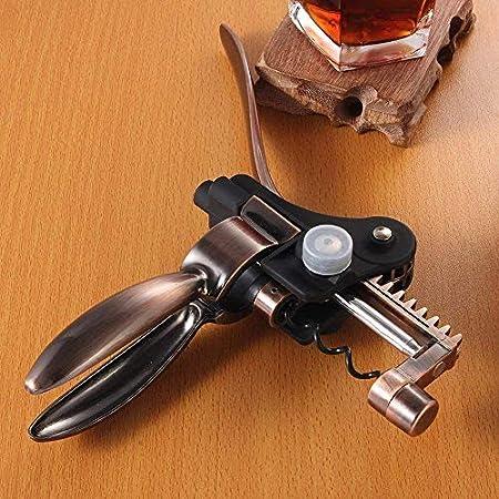 zaizai Juego de Regalo de Vino Accesorios de Barra de Acero Inoxidable Accesorio Juego de Regalo Kit para sumiller - abridor de Vino con sacacorchos.
