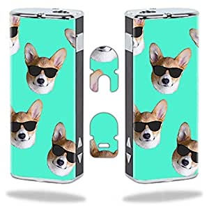 MightySkins Skin for Eleaf iStick 20W – Cool Corgi | Protective, Durable, and Unique Vinyl Decal wrap Cover | Easy to Apply, Remove, and Change Styles | Made in The USA