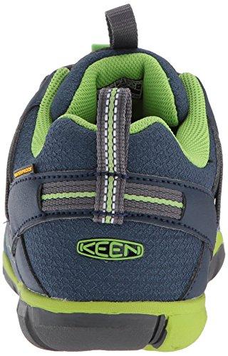 Keen Chandler CNX WP, Zapatos de Low Rise Senderismo Unisex Niños Azul (Dress Blues/greenery)