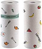 Paper Towels for Kitchen,Disposable Cleaning Towels,Cleaning Paper Rags,Reusable Dish Cloths Dish Rags for washing dishes drying dishes,Paper Napkins(Pattern, 2 Rolls)