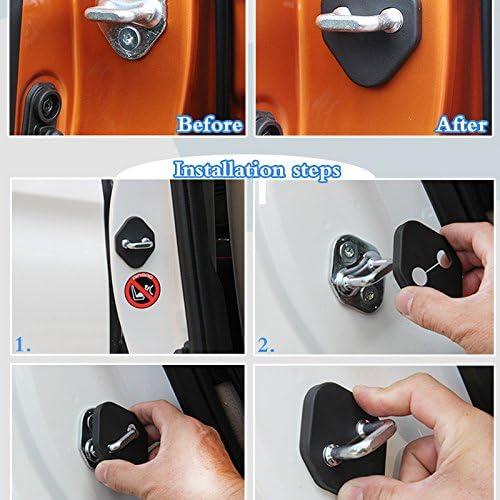For Honda CR-v Accord CIVIC Auto Door Lock Striker Protective Cover Kit Door Case White 4pcs
