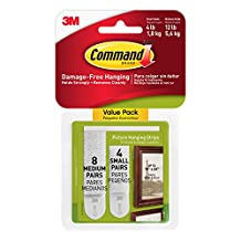 All Ware Command Picture Hanging Strips, 4-Small, 8-Medium