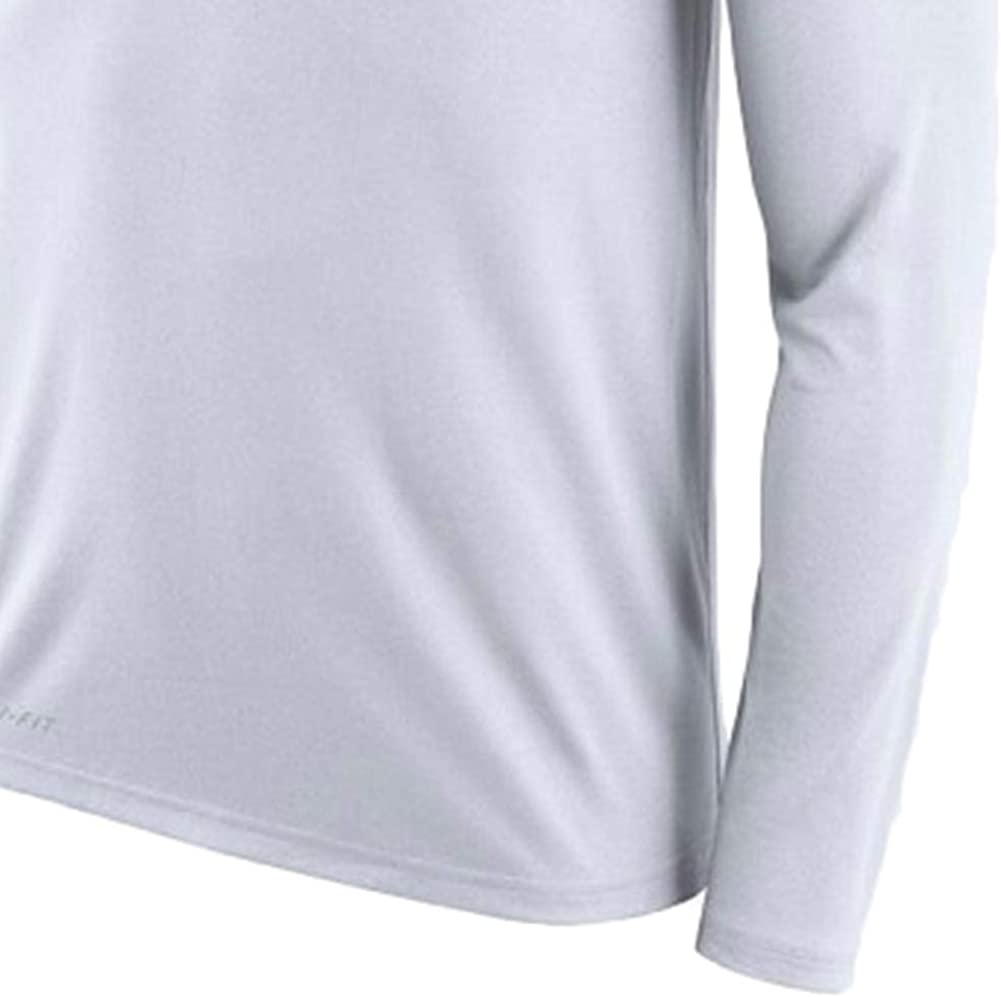 Nike Mens Chicago Bears Navy Sideline Line of Scrimmage Legend Performance Long Sleeve T-Shirt