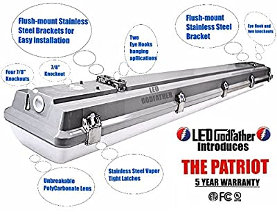 LED Utility Shop Light Garage Light 4' Ft. 66-Watts Instant On 8,070 Lumens