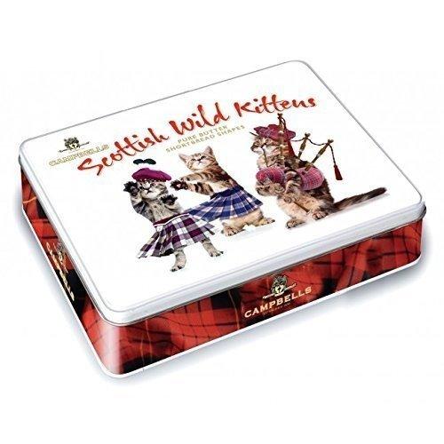 Scottish Food (Campbell's Shortbread Scottish Wild Kittens Tin 150 G)