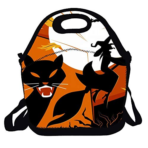(Lunch Bags for Women Insulated Lunchbox Tote Bag Cats Pumpkin Food Box Adult Men)
