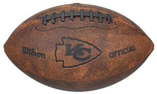 NFL Kansas City Chiefs Vintage Throwback Football, 9-Inches