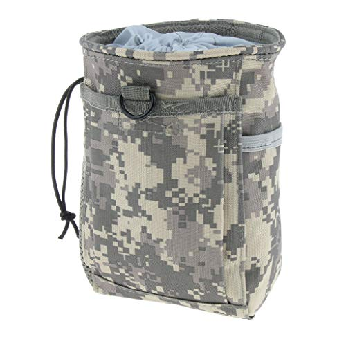 MOPOLIS Tactical Magazine Dump Drop Pouch Recycling Bag Molle Storage Drawstring Bag (Color - ACU Camo)