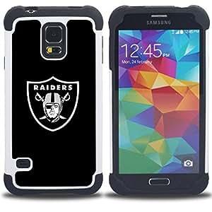 For Samsung Galaxy S5 I9600 G9009 G9008V - RAIDER HOCKEY Dual Layer caso de Shell HUELGA Impacto pata de cabra con im????genes gr????ficas Steam - Funny Shop -