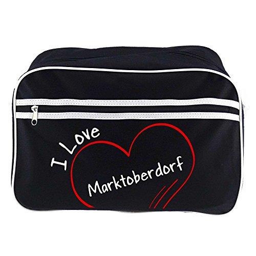 Marktoberdorf Love Bandolera Mercado Negro I Bolso Retro vfYBqw