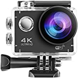 LESHP Action Camera 4K WiFi Ultra HD 30m Underwater Waterproof Sports Camera for Youtube Video 12MP 170 Degree Wide Angle Helmet Camcorder
