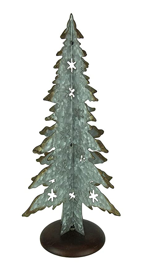 Metal Christmas Tree.Amazon Com Special T Imports Galvanized Metal Christmas