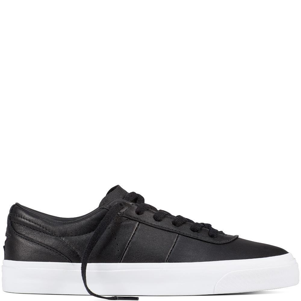 Converse Point Star Leather Low Top Sneaker B07BXV5K78 9.5 M US|White/White/Black