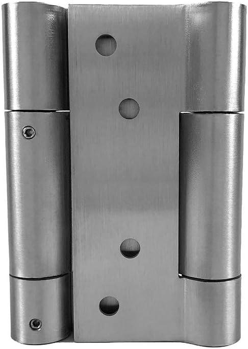 304 Stainless Steel Loaded Spring Loaded Door Swing Hinge for Cafe Saloon Door QWORK Double Action Spring Door Hinge 2 Pcs 3 Inch