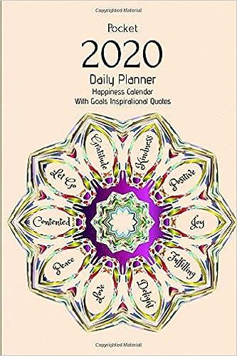 pocket daily planner happiness calendar goals