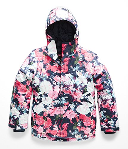 The North Face Kids Girl's Brianna Insulated Jacket (Little Kids/Big Kids) Atomic Pink Digi Floral Print Large