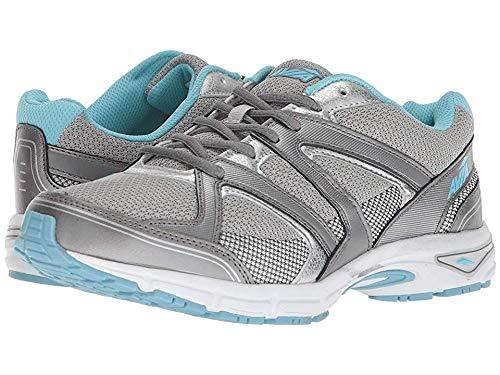 Avia Women's Avi-Execute II Running Shoe, Chrome Silver/Metallic Grey/Topaz Blue, 6.5 W US