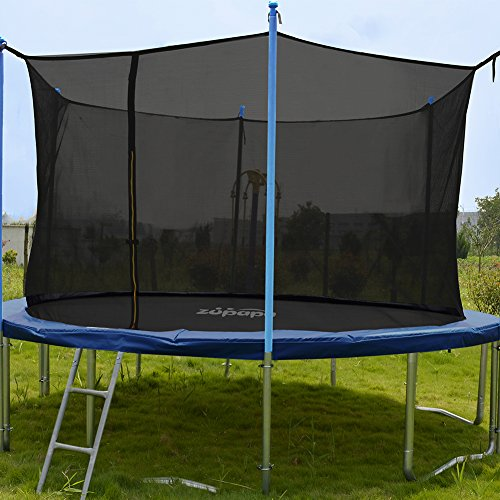 ORCC New Upgrade15 14 12 10FT Trampoline with Safety Enclosure Net Wind Stakes Rain Cover Ladder,Outdoor Trampoline with TUV Certificated,Best Gift for Kids by ORCC (Image #1)