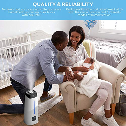 Cool Mist Humidifier - Air Humidifier - Humidifiers for Bedroom - Baby Vaporizer Room Humidifier - Home Top Fill Filterless Ultrasonic Humidifiers for Babies Kids - Air Mist 6l Large Room Humidifier by DIVERSO DEVICES (Image #2)