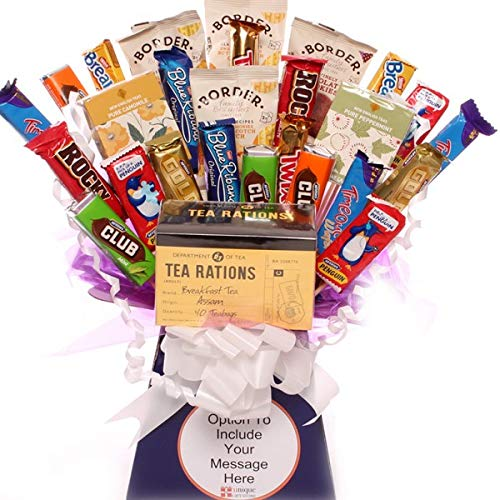 Tea Rations Biscuit Bouquet, a Fantastic Celebration of Tea and Biscuits, The Perfect Gift for a Tea or Biscuit Lover, Handmade in The UK with Free Gift wrap and Free Message tag