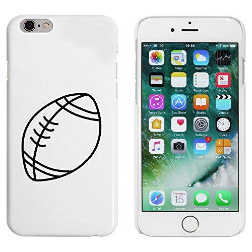 Blanc 'Ballon de Rugby' étui / housse pour iPhone 6 & 6s (MC00087871)