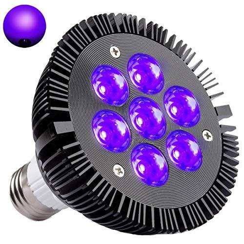 Black Light Bulb, KINGBO 14W LED UV Light E26 PAR30 Glow in The Dark Light, 395nm LEDs Super Bright for Blacklight Party Birthday Wedding DJ Stage Dance Floor -