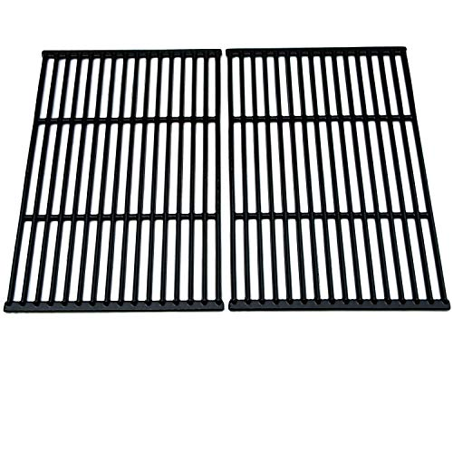 BBQration Metals Matte Cast Iron Cooking Grid Replacement for Select Brinkmann and Grill Chef Gas Grill Models, Set of 2,(16.9375 x 23.5) ()