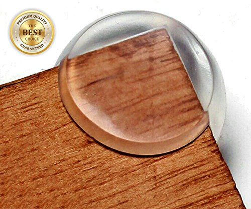 Clear Corner Guards | Caring Corners Protectors by The Hamptons Baby | Corner Guards for Tables, furniture & sharp corners | Baby Proofing | Protect your child from getting injured around the house!