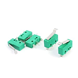 Uxcell a14061700ux0924 AC 125V 5A Hinge Lever Micro Limit Switch KW4-3Z-3 for Mill CNC (Pack of 5)