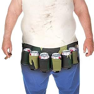WZY® cerveza y la Soda pueden funda correa tiene 6 bebidas (camuflaje)