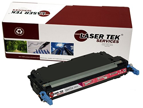 Laser Tek Services Compatible 502A Toner Cartridge Replacement for the HP Q6473A. (Magenta, 1-Pack)
