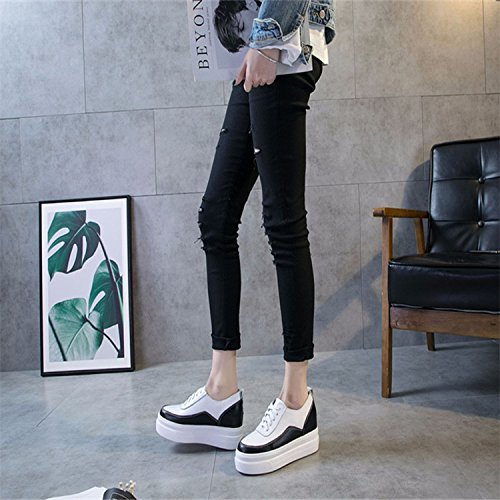 zapatos de el la parte mujer Thirty en espesor inferior ocio de KPHY six de los cuero aumento esponja la de cuero zapatos del nine de de Thirty EqTw6xaZz