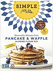 Simple Mills Almond Flour Mix, Panacke & Waffle, 10.7 oz (PACKAGING MAY VARY)