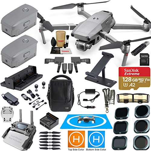 (DJI Mavic 2 Pro Drone Quadcopter and Fly More Kit Combo with 3 Batteries, Hasselblad Camera Gimbal Bundle with Must Have Accessories)