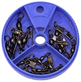 Eagle Claw Snap Swivel Assortment, 20 Piece (Black)