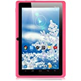 iRULU eXpro X1 7 Inch Quad Core Google Android Tablet PC, 1024*600 Resolution, 16GB ROM, Wi-Fi, Games, Dual Cameras (Pink)