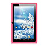 iRULU eXpro X1 7 Inch Google Android Tablet PC, 1024600 Resolution, 8GB Nand Flash, Wi-Fi, Games, Dual Cameras (Pink)