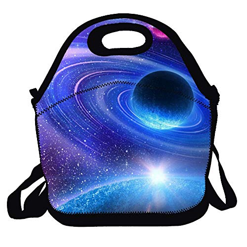 Custom Lunch Bag for Women Insulated Customizable Your Picture Lunch Tote for Girls Personalized Gifts for Kids - Space Galaxy Planet
